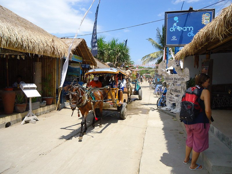 Islas Gili, Indonesia, lugares sin coche