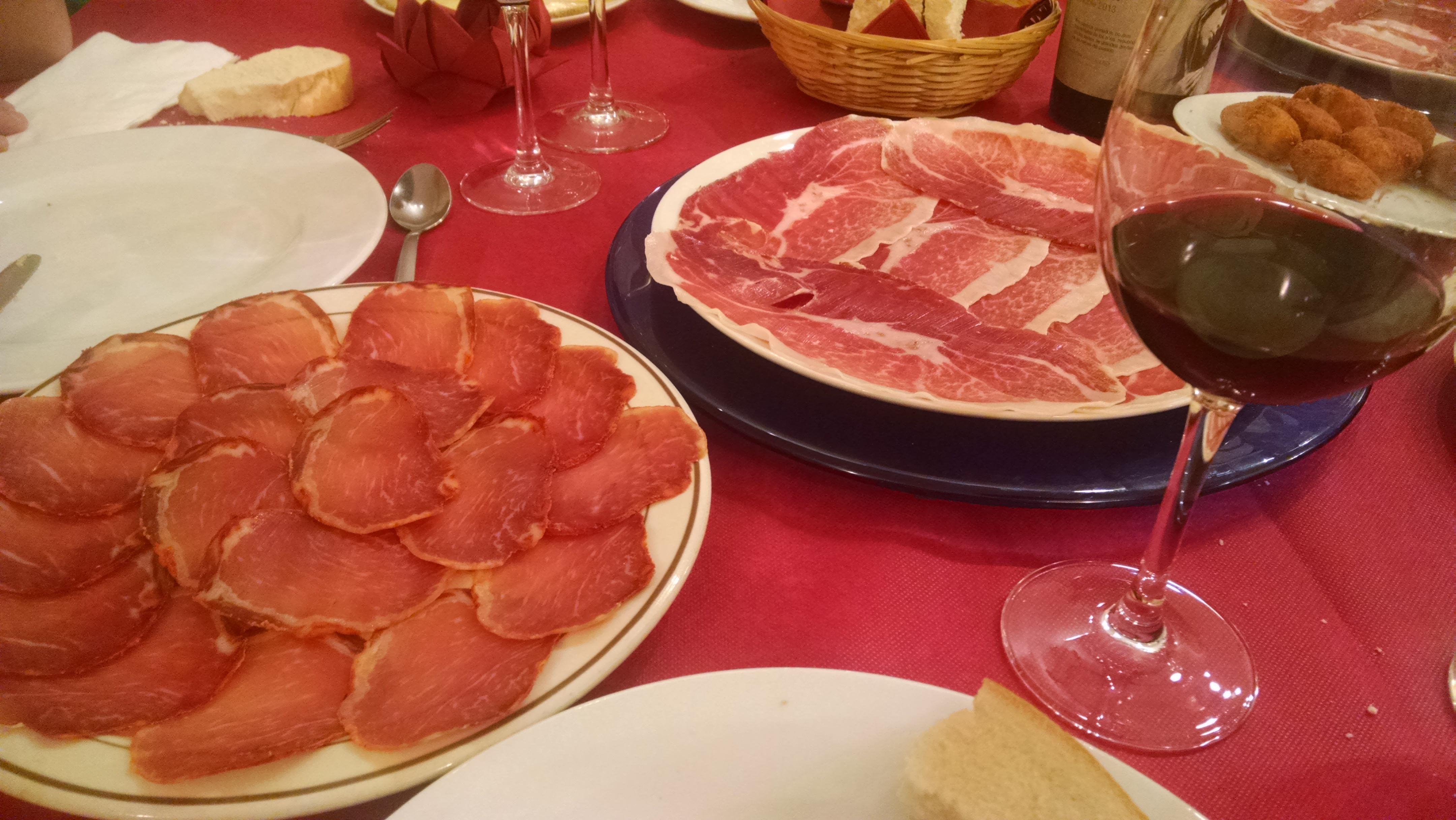 Surtido de ibéricos en Guijuelo, Salamanca