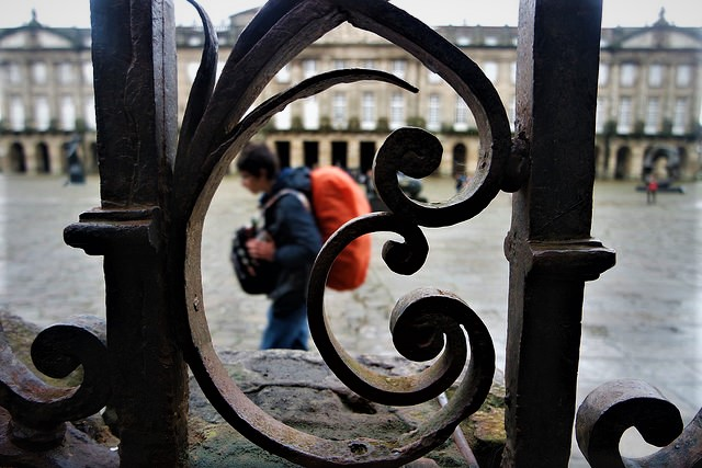 Peregrino en Santiago de Compostela
