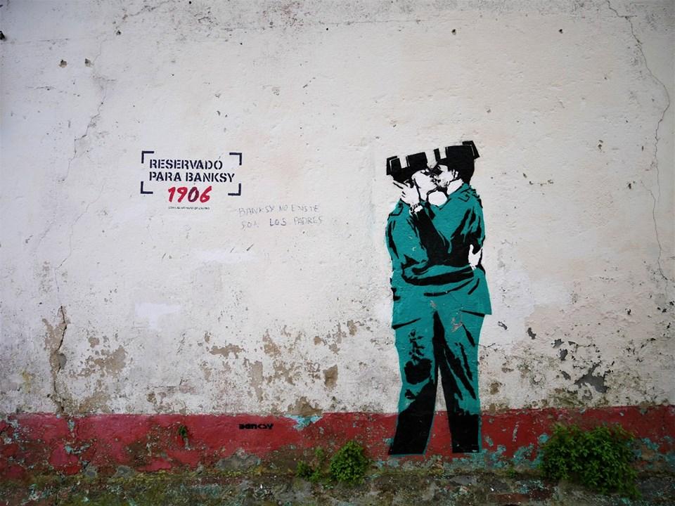 Banksy en Ferrol - Prueba de la autenticidad del grafiti de Canido