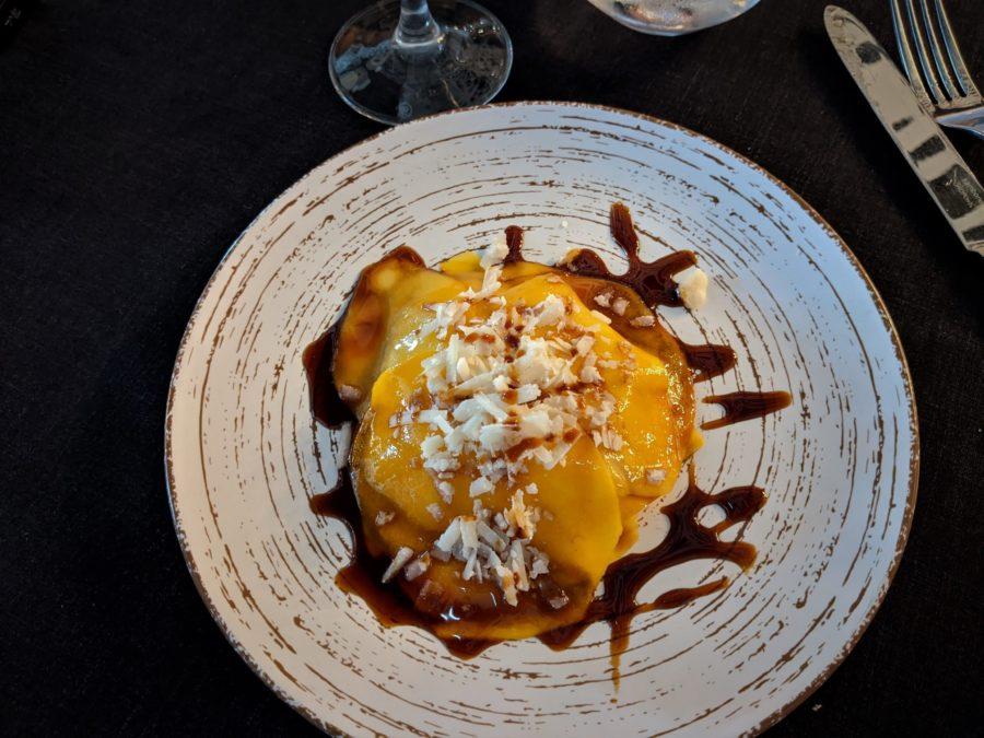 Milhojas de mango, dónde comer en Salobreña Granada