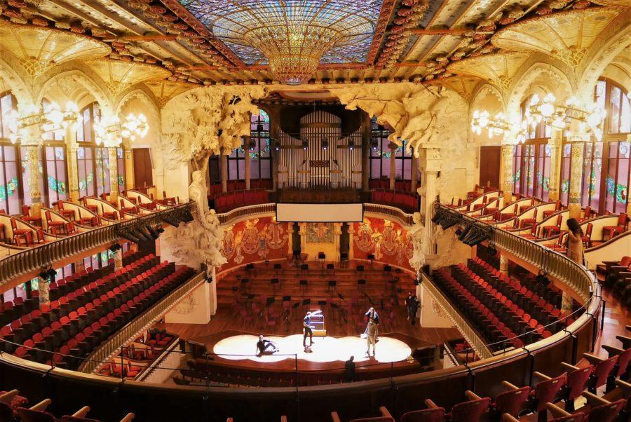 La visita al Palau de la Música Catalana en Barcelona