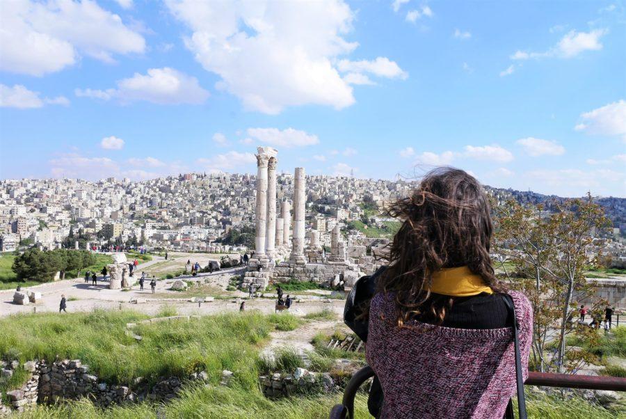 Vistas de la Ciudadela de Ammán, es seguro viajar a Jordania